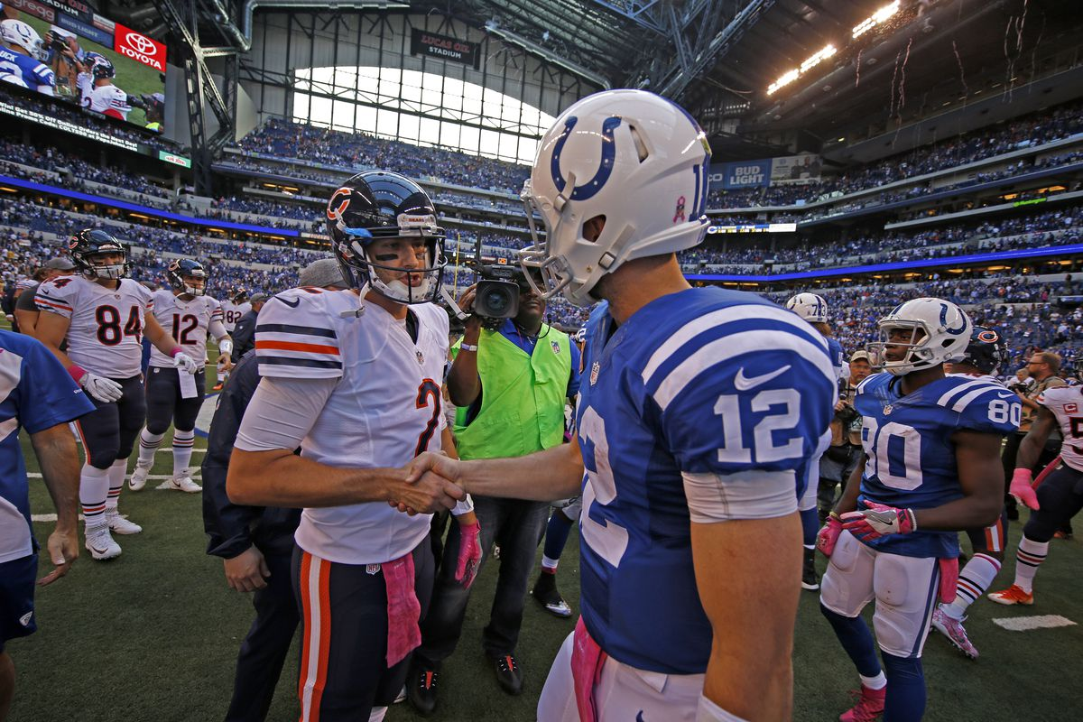 Espn Seriously Compared Andrew Luck To Brian Hoyer Stampede Blue