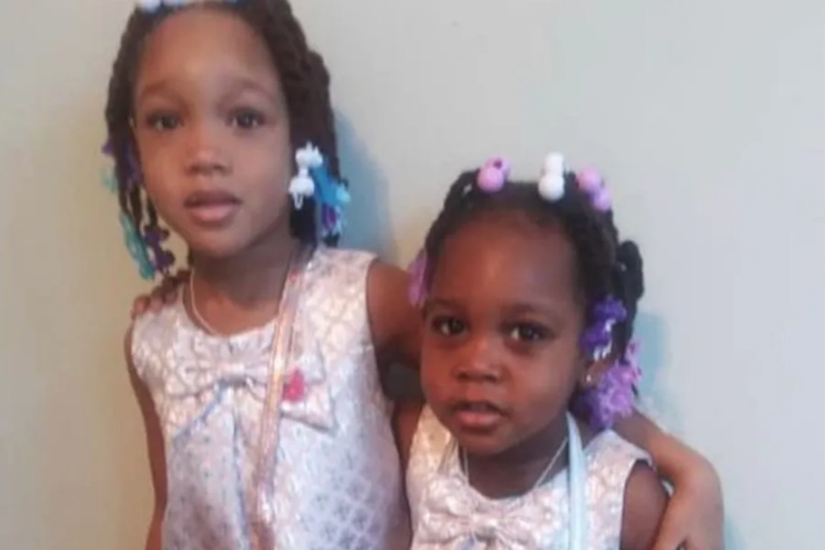 Serenity Broughton, left, and her sister Aubrey, who were shot in a car on Aug. 15. Serenity died of her wounds.