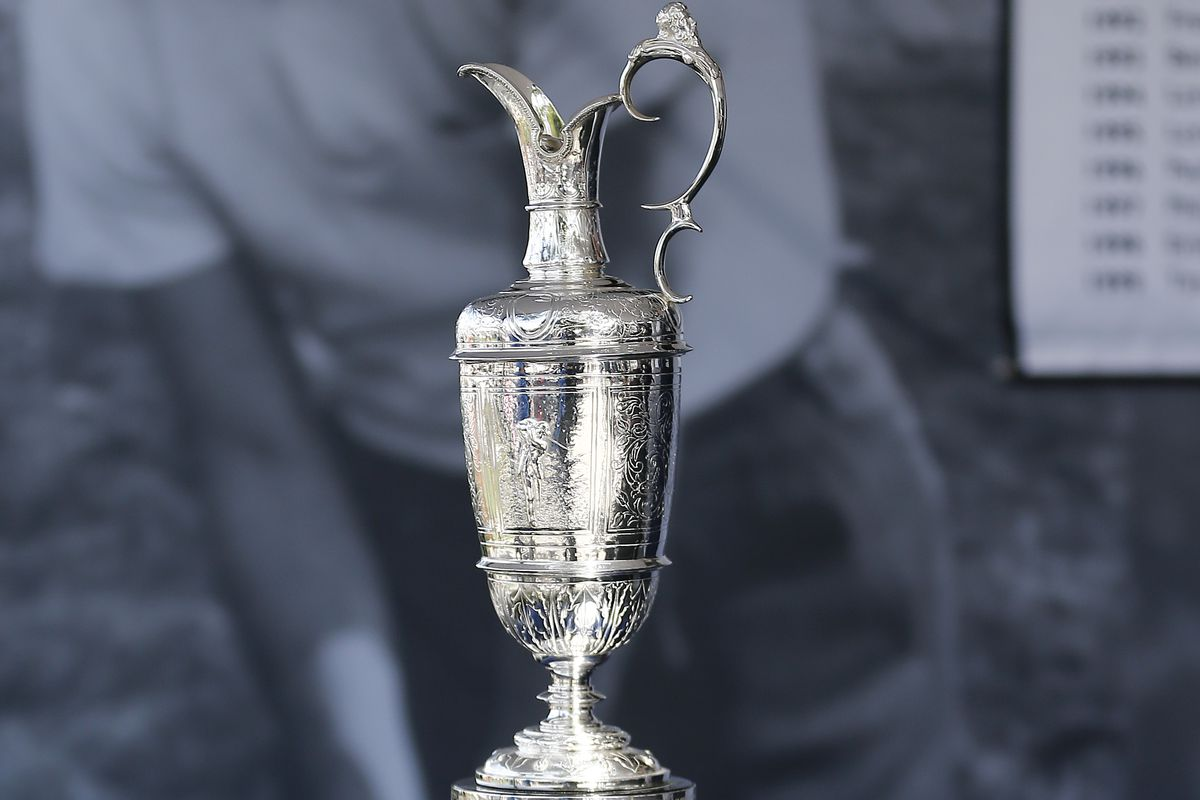 A detailed view of the Claret Jug on display during The Open Qualifying Series, part of the Arnold Palmer Invitational at Bay Hill Club and Lodge on March 08, 2020 in Orlando, Florida.