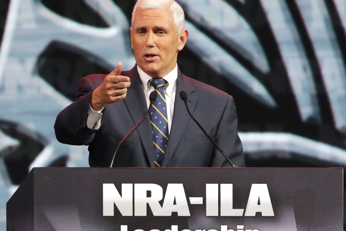 Gov. Mike Pence (R) speaks at an NRA forum.