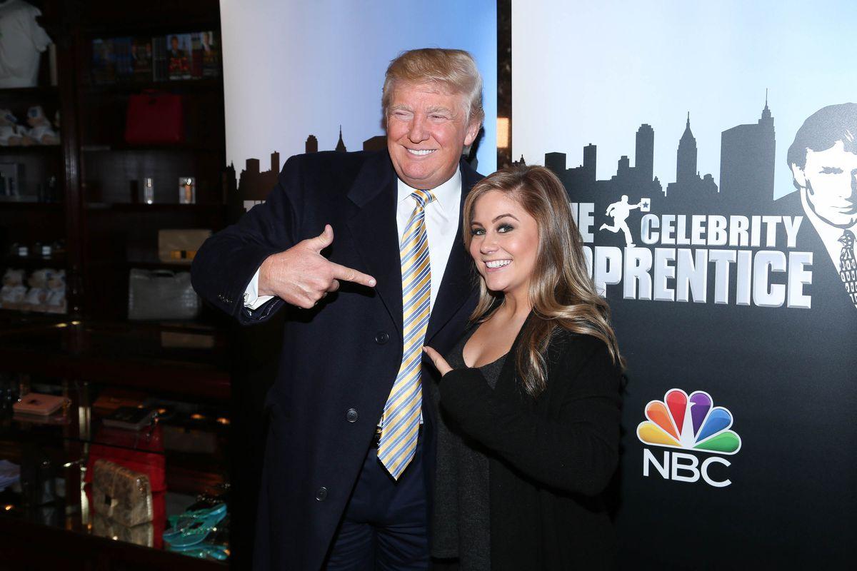 Donald Trump with Shawn Johnson