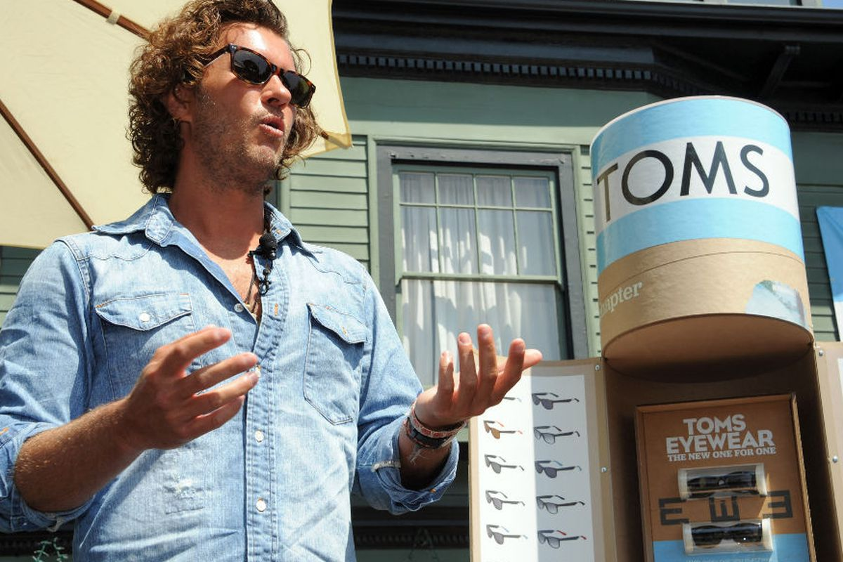 Blake at the launch of TOMS eyewear in Santa Monica. Photo via Getty Images.