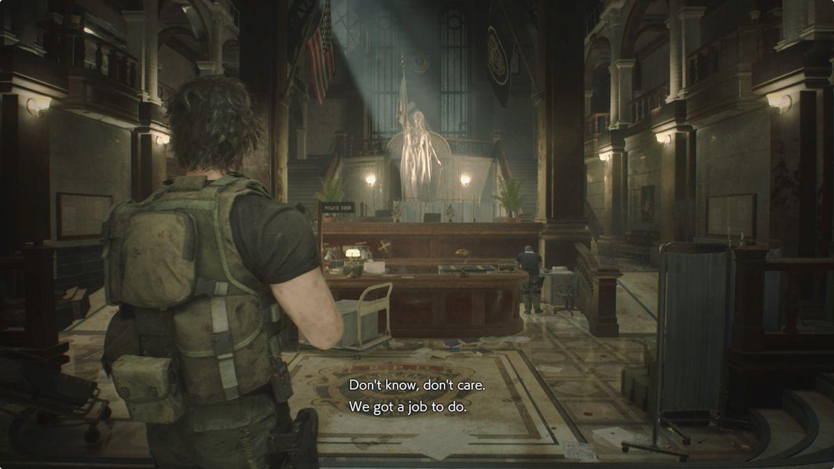 Resident Evil 3 Carlos Police Station Main Hall