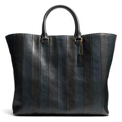 """<a href=""""http://f.curbed.cc/f/Coach_SP_031214_Shopper"""">Bleecker Shopper in Bar Stripe Leather</a>, $798"""