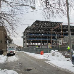Wed 12/30: new buildings viewed from Seminary -