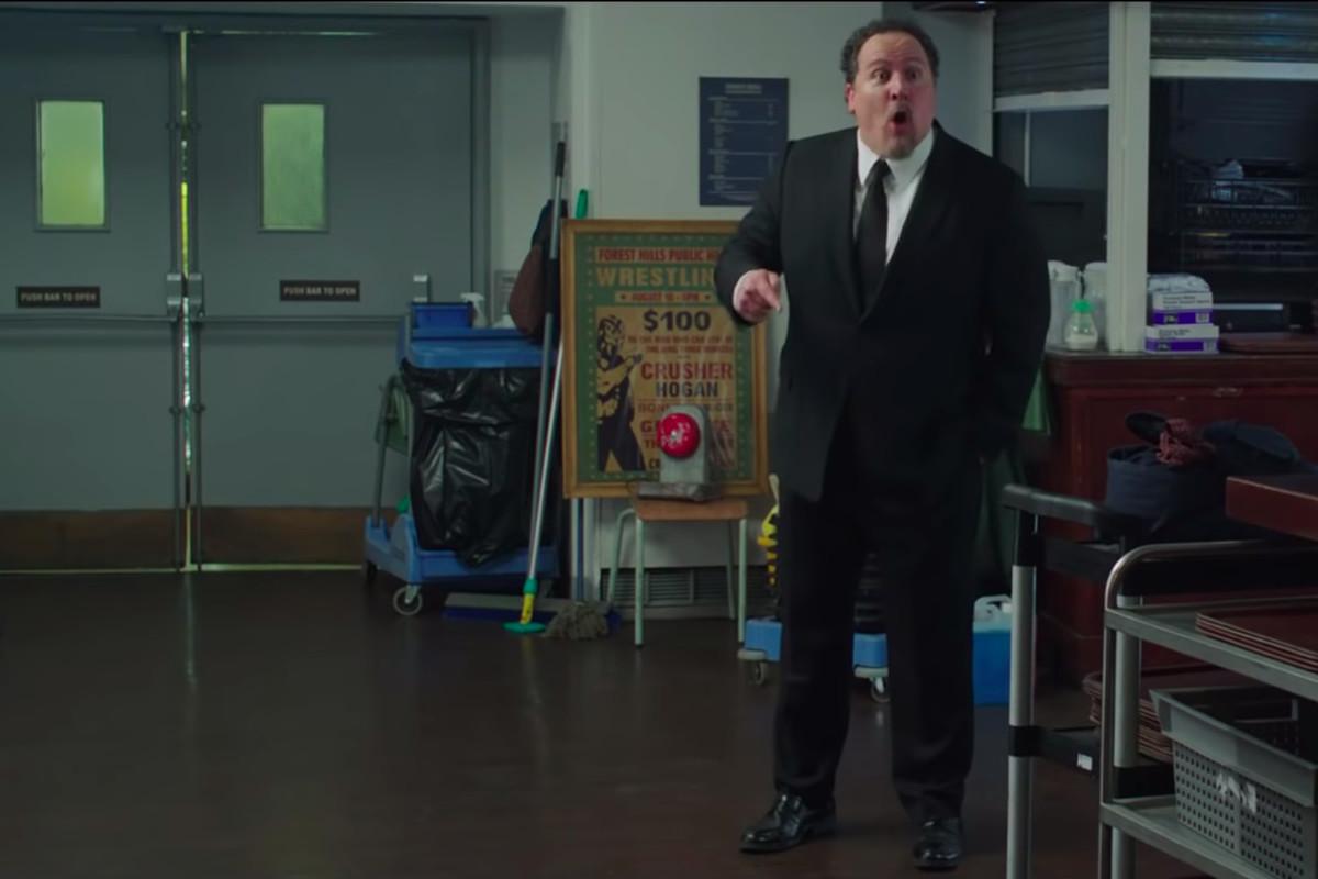 Jon Favreau as Happy Hogan in a trailer for Spider-Man: Far From Home.