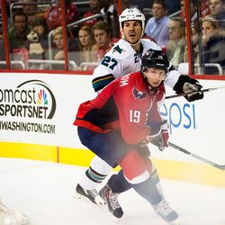 Hannan and Backstrom Look For Puck