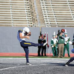 One of a few Toledo punts today