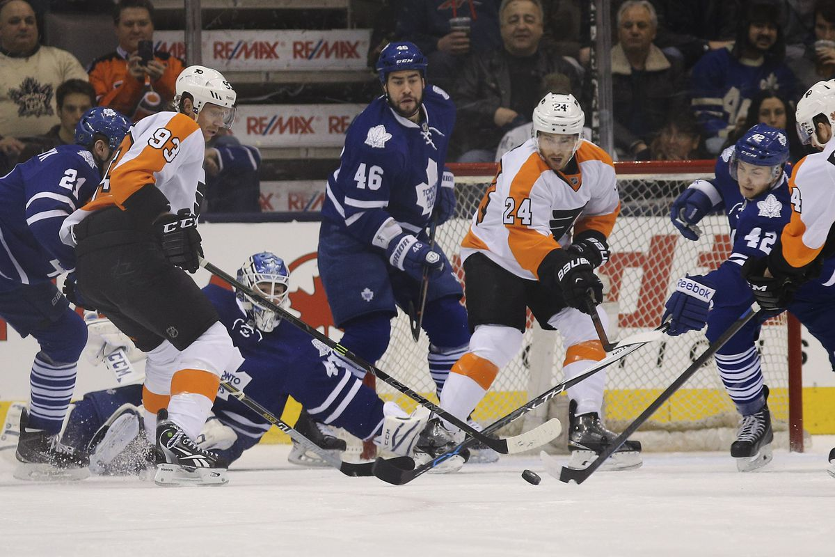 The Toronto Maple Leafs took on the Philadelphia Flyers at the ACC