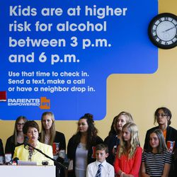 Utah first lady Jeanette Herbert speaks during a press event for Parents Empowered at the Utah Department of Human Services in Salt Lake City on Tuesday, May 16, 2017.