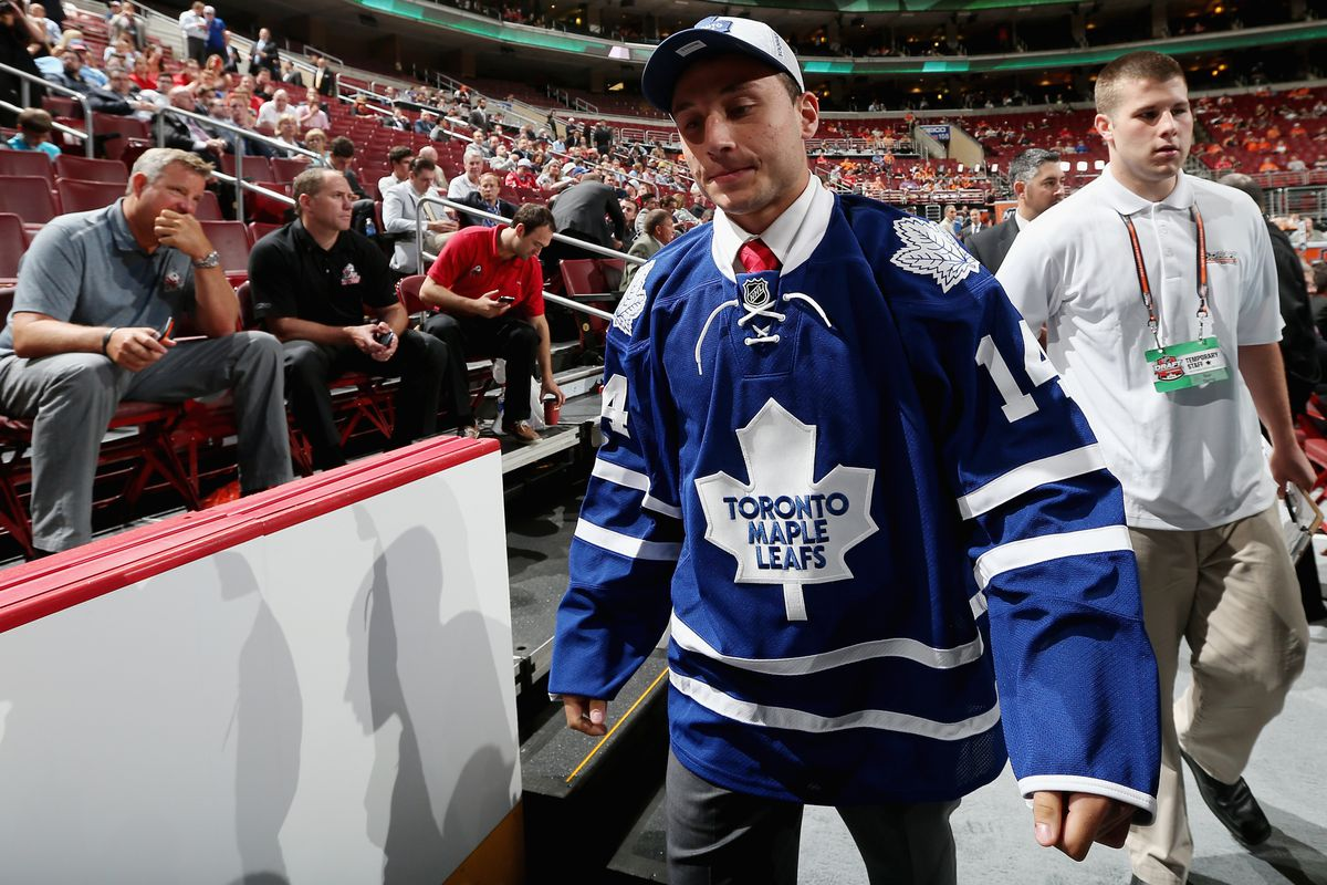 J.J. Piccinich went from being drafted by the Toronto Maple Leafs on Saturday to in a classroom taking summer classes on Monday.