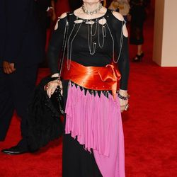 Designer Zandra Rhodes. The first punk outfit we've seen!
