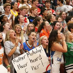 Marist's students came out in strength. Allen Cunningham/For the Sun-Times.
