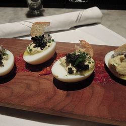"""Deviled Eggs at Russell House Tavern by <a href=""""http://www.flickr.com/photos/crumbs/8452600952/in/pool-1844845@N22"""">kevincrumbs</a>."""