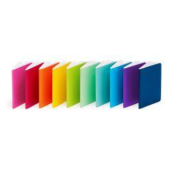 "Poppin notebook set, <a href=""http://www.poppin.com/mini-medley-soft-cover-notebooks-set-of-10-101024.html#start=1"">$20</a>"