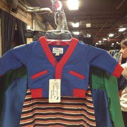 Sweatshirt cardigan for a tiny boy, $20
