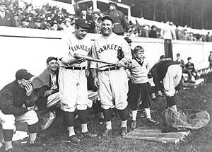Babe Ruth and Lou Gehrig at West Point in 1927.