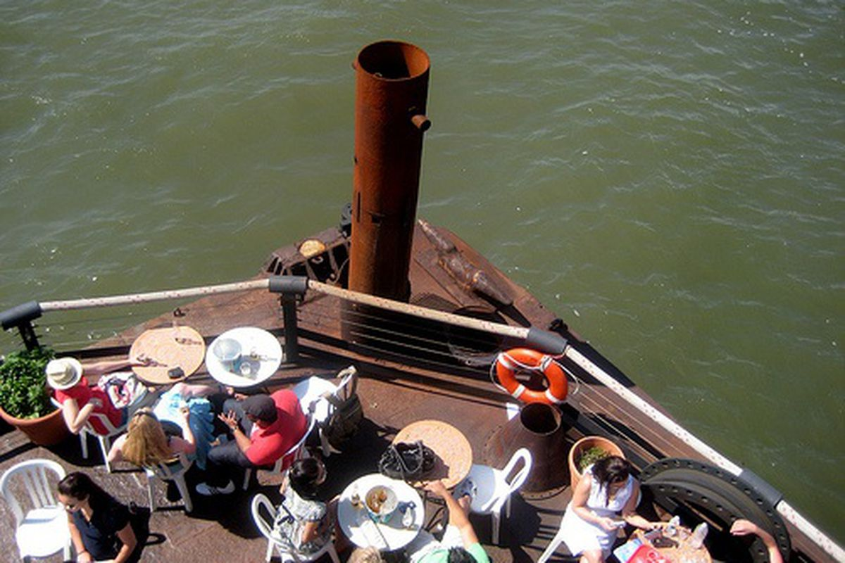 The Lightship Frying Pan on the Hudson