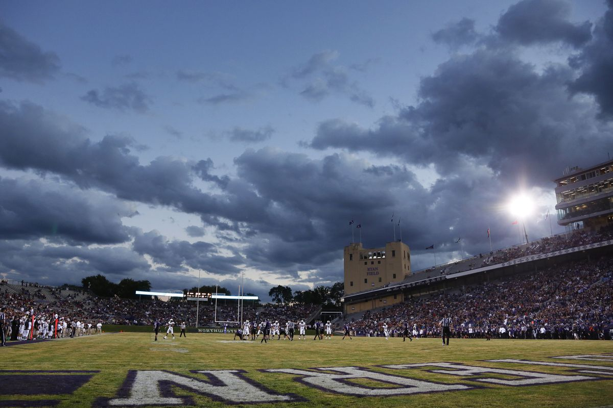 EVANSTON, IL - SEPTEMBER 8: General view of the sky after sunset during the game between the Northwestern Wildcats and Vanderbilt Commodores at Ryan Field on September 8, 2012 in Evanston, Illinois. (Photo by Joe Robbins/Getty Images)