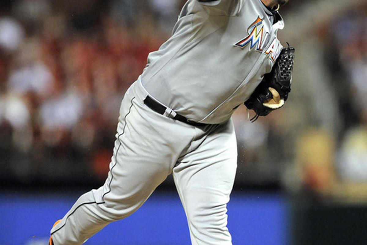 The face of struggling Miami Marlins closer Heath Bell is no longer the only one you will see in the ninth inning: Jeff Curry-US PRESSWIRE