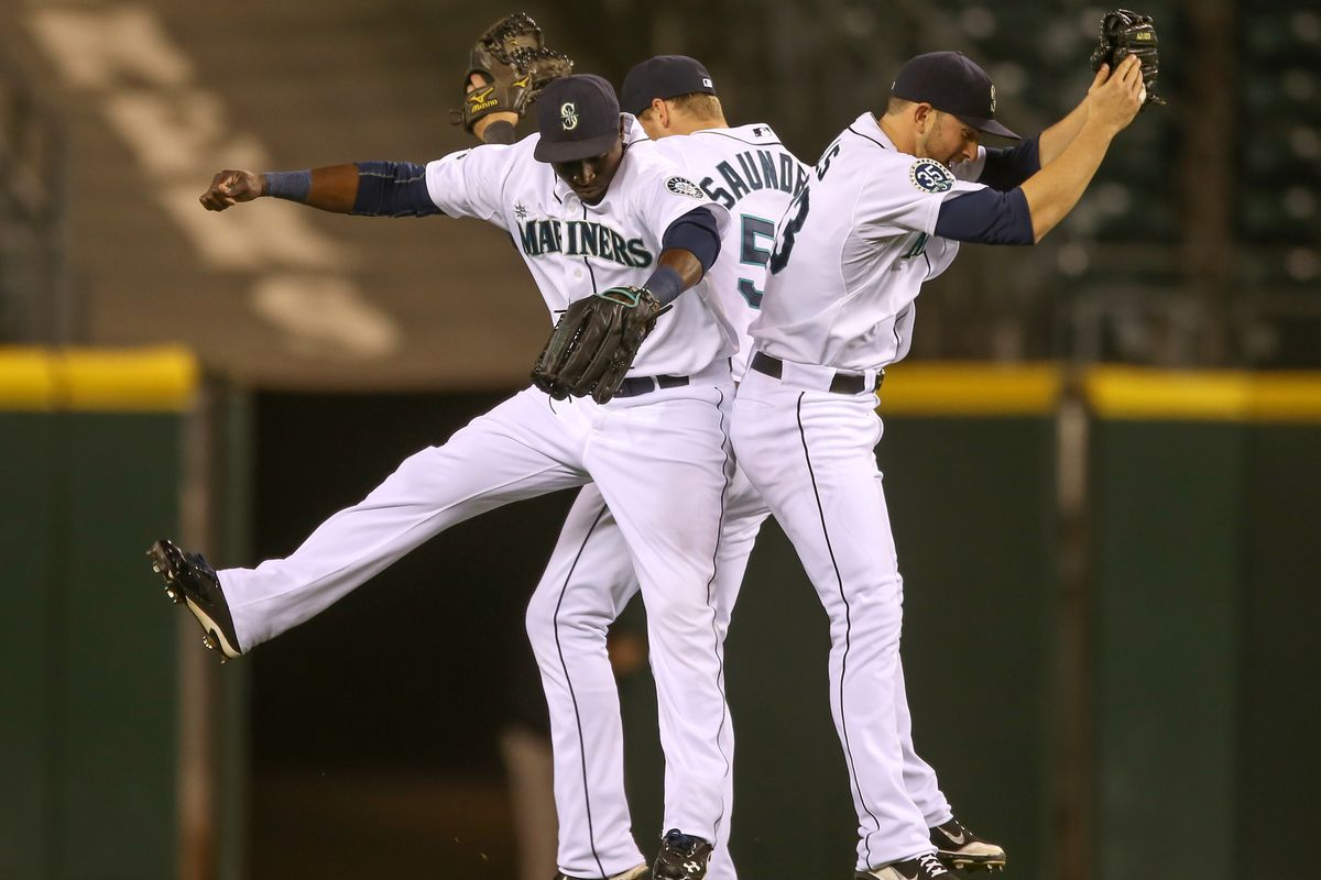 the Mariners winning a game