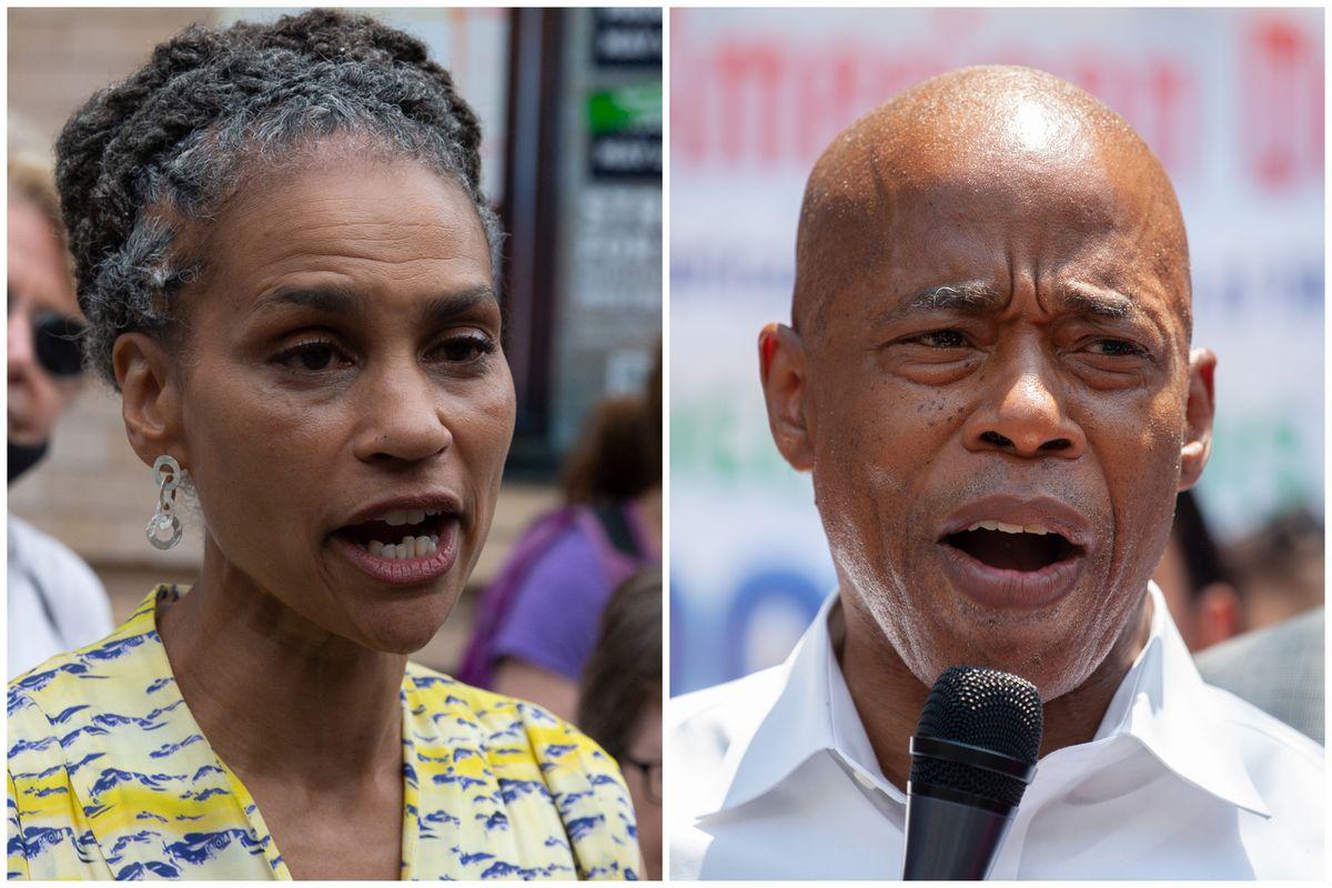 Mayoral Candidates Maya Wiley and Eric Adams