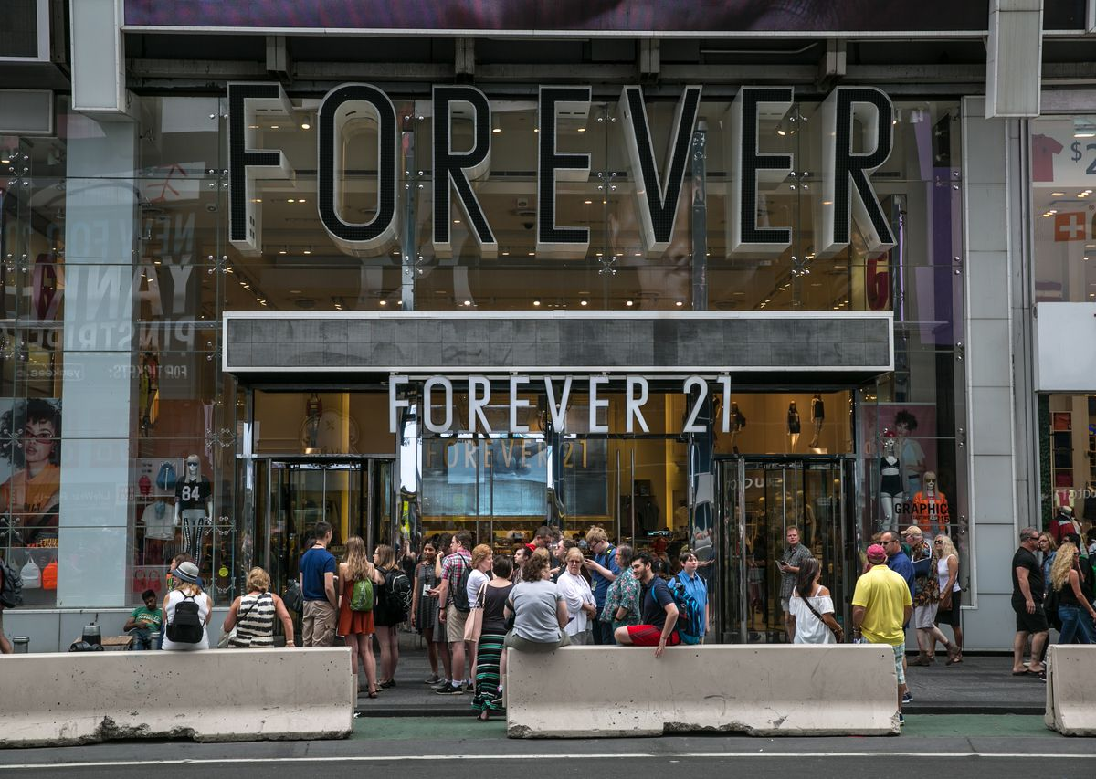 The Forever 21 store in New York City's Times Square.