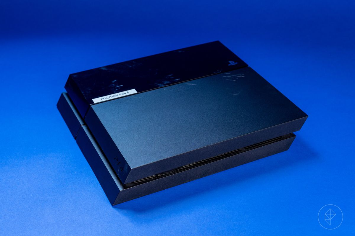 Polygon PS4 5 on a blue background