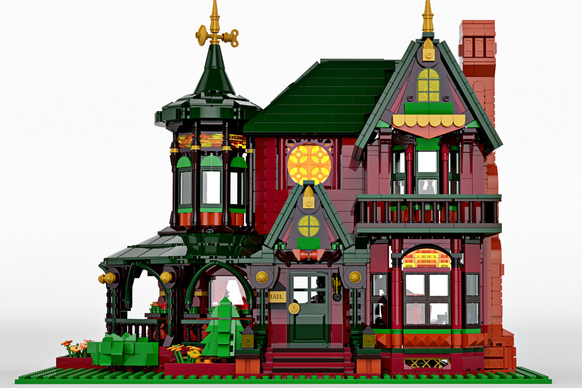 This Mini Victorian Dream Home Was Built With Legos Curbed