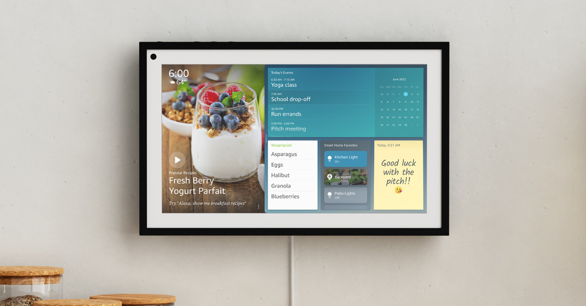 Amazon's new Echo Show 15 is meant to hang on your wall