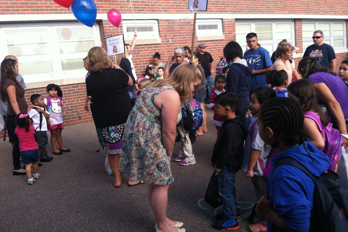 First-year teacher Mary Young meets her students, amidst the chaos of the first day of school.