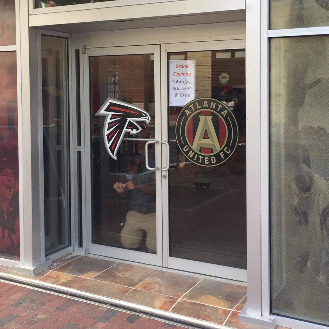 brand new c25f6 6a13e Official Atlanta United team store at Mercedes-Benz Stadium ...