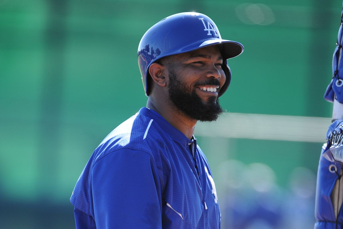 Howie Kendrick is batting fifth for the Dodgers against the Indians in Goodyear on Saturday.