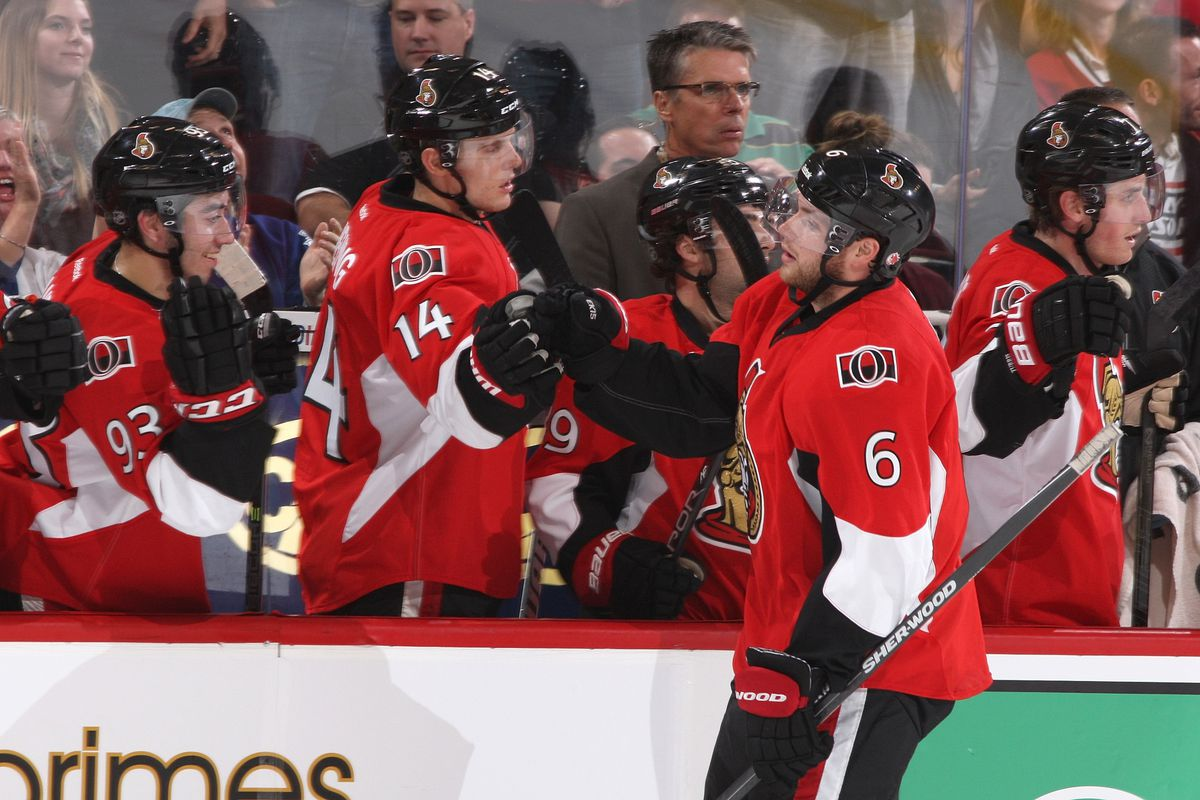 How many times will we see the sight of Bobby Ryan ignoring people on the bench this year?