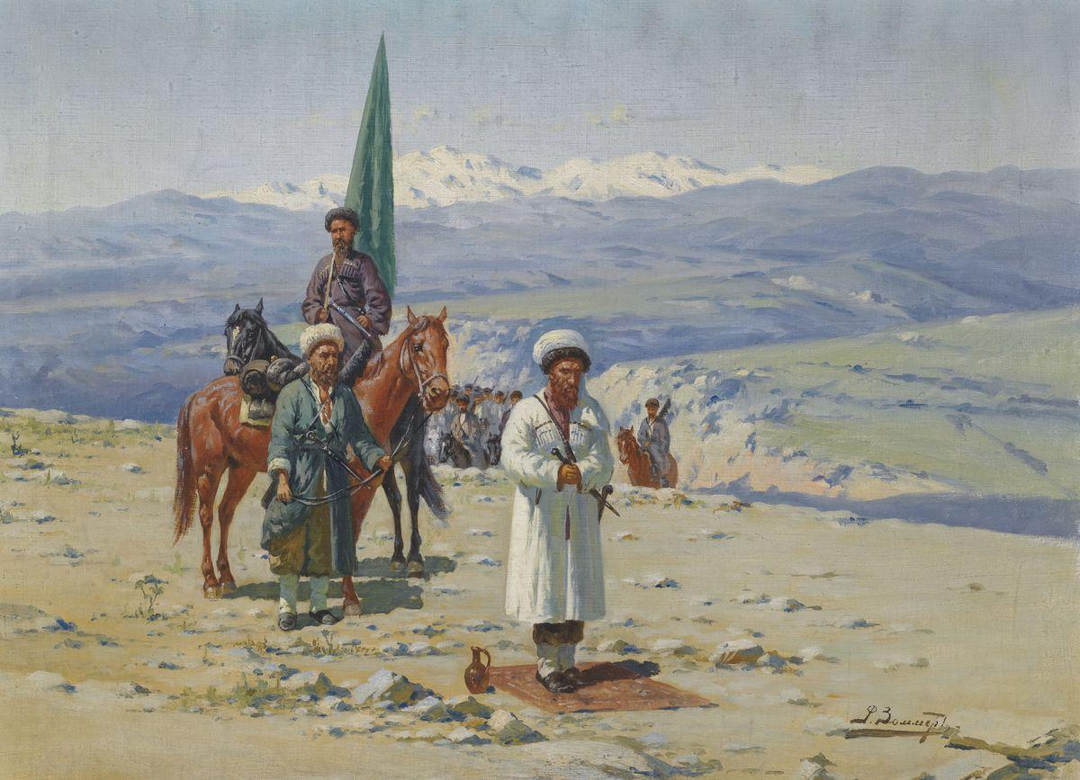 Imam Shamil in the Caucasus. Artist: Sommer, Richard Karl (1866-1939)
