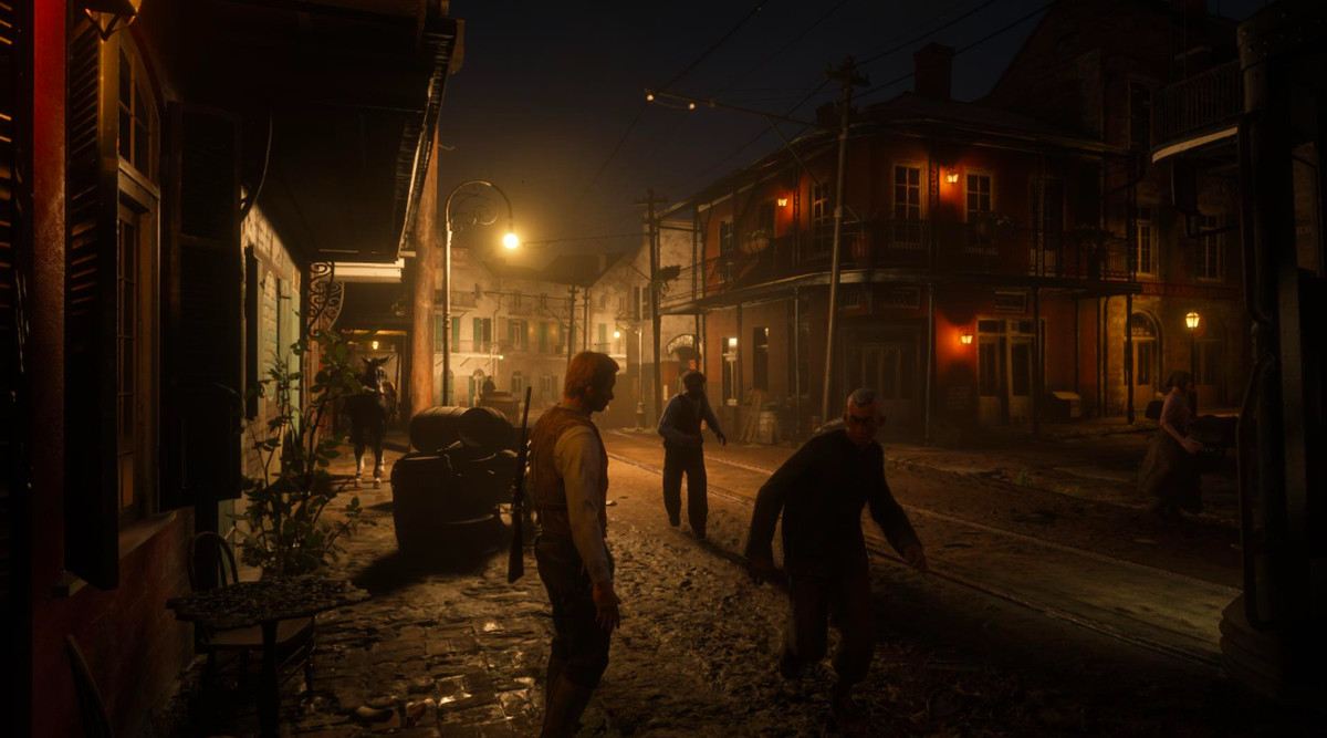 Red Dead Online - Saint Denis at night