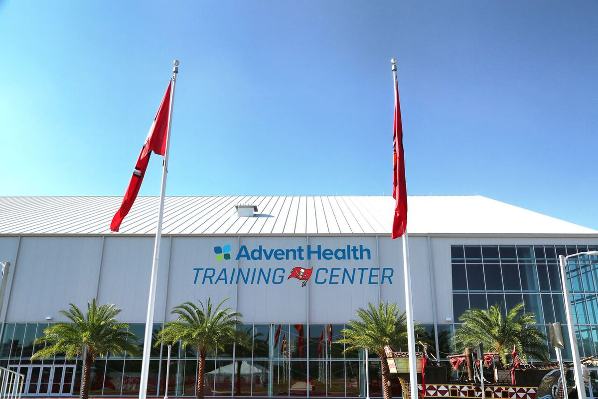 Florida Hospital Which Will Soon Be Known As Adventhealth And The Tampa Bay Buccaneers Unveiled A New Name Logo For Nfl Team S Training Facility