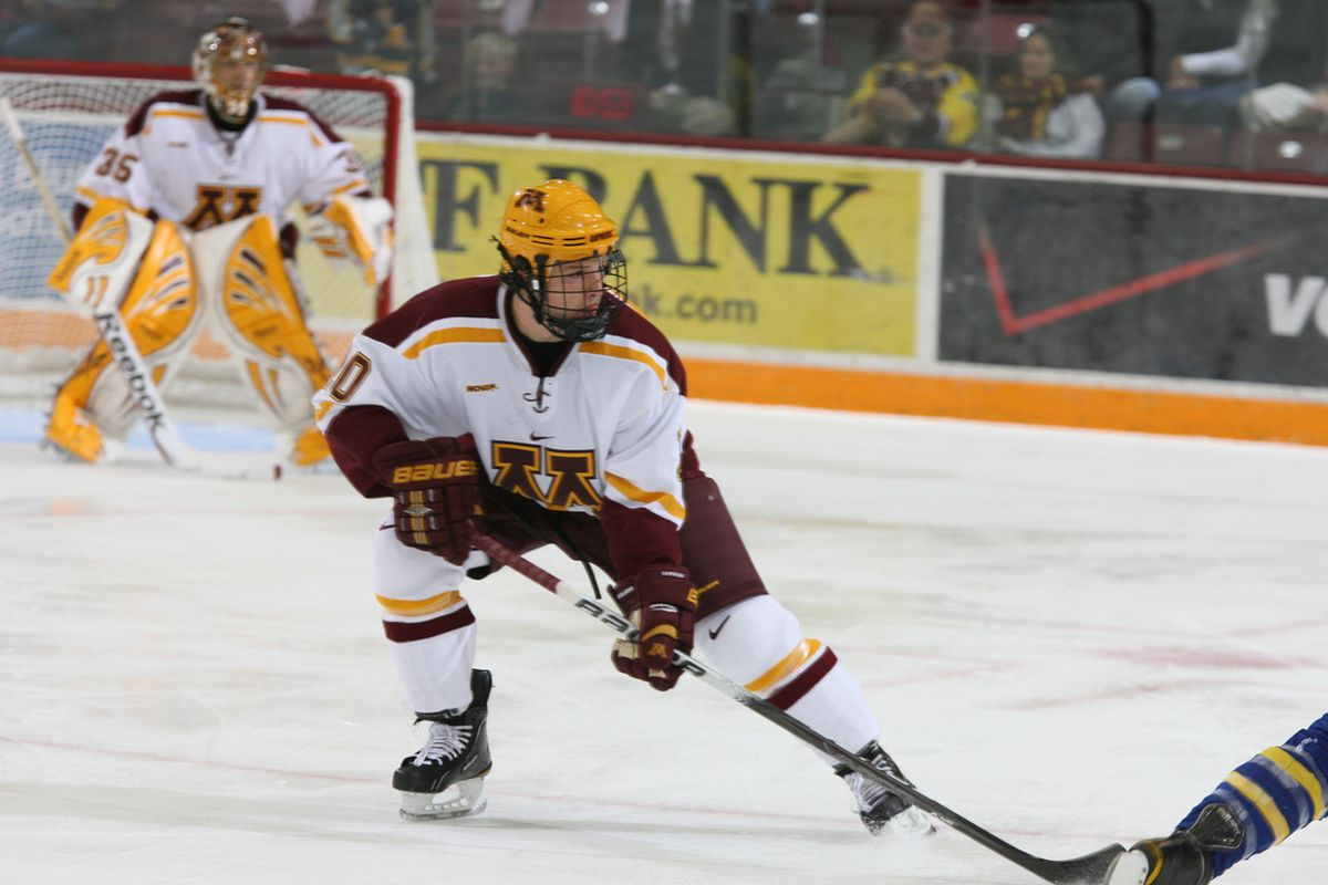Ben Marshall scored the lone Minnesota goal last night as the Gophers look to split with Notre Dame on the road