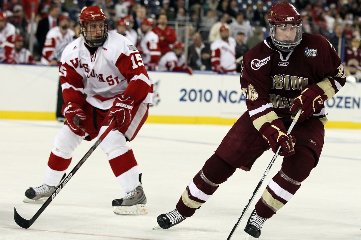 Boston College and Wisconsin met in the 2010 NCAA Championship game.