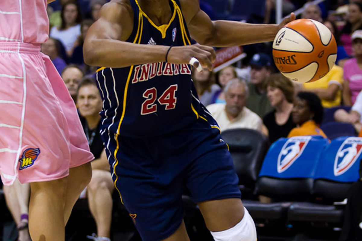Tamika Catchings of the Indiana Fever is one of the best players in the league again this year. (Photo by Ryan Malone)