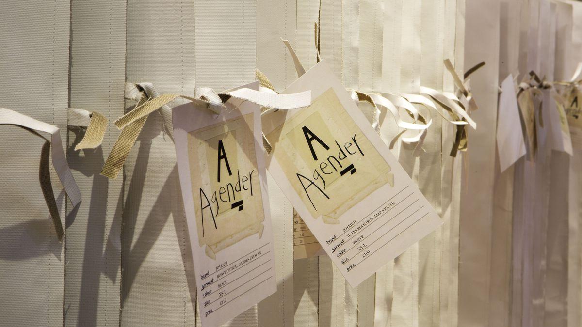 Items hanging at the Selfridges Agender pop-up shop. Photo: Selfridges