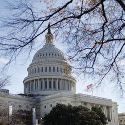 FILE - In this Nov. 19, 2011 fie photo the U.S. Capitol building is seen in Washington. Fresh off a five-week vacation, lawmakers return to Washington on Monday, Sept. 10, 2012, for a brief pre-election session in which Congress will do what it often does best: punt its problems to the future. At issue is a six-month temporary spending bill to finance the day-to-day operations of the federal government.