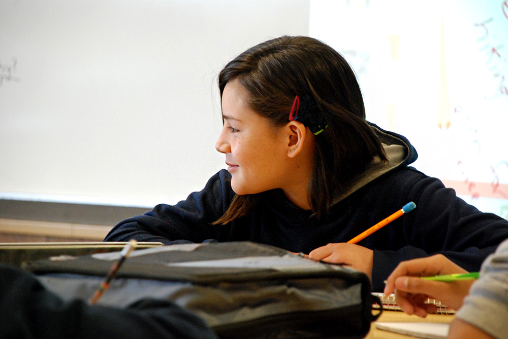 A new student at Scott Carpenter is learning English for the first time at the Adams County middle school.