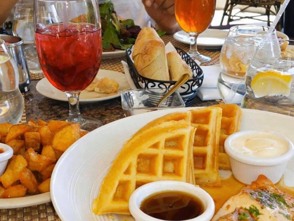 Waffles and other brunch dishes