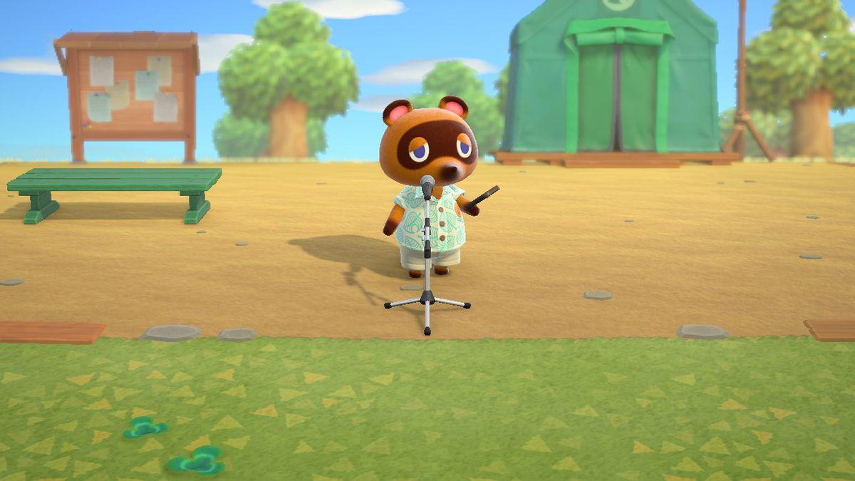 Tom Nook in Animal Crossing: New Horizons.