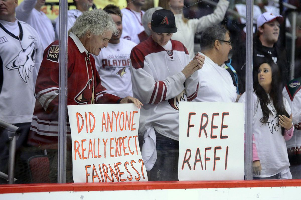 Fortunately, the rest of the Coyotes are picking up the goonery slack while he's gone.
