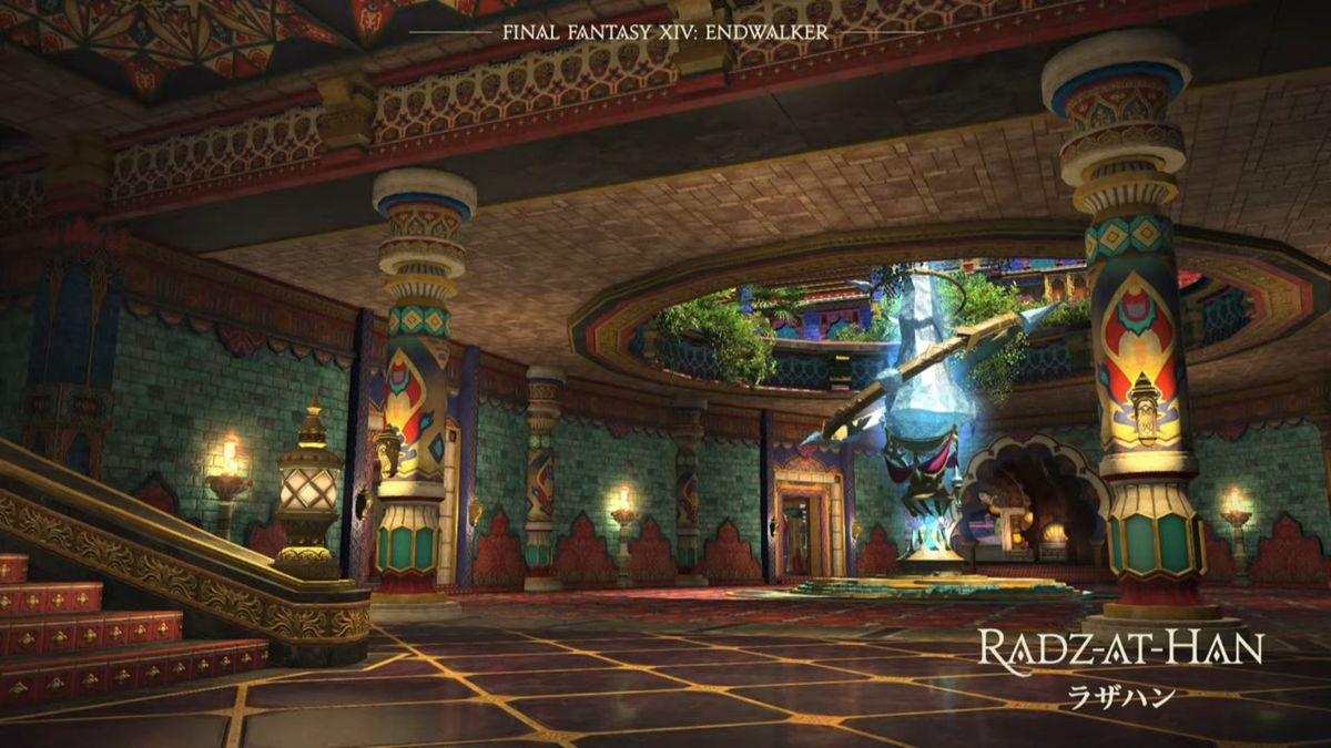 Radz-at-Han, a colorful city in Final Fantasy 14: Endwalker