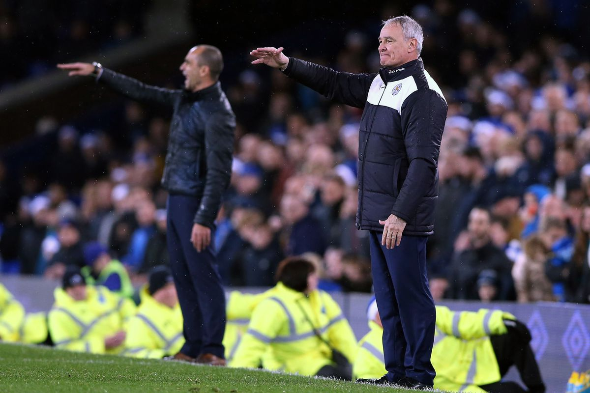In an effort to end the predictability in his side, Roberto Martinez begins an impromptu round of the Macarena with Claudio Ranieri.