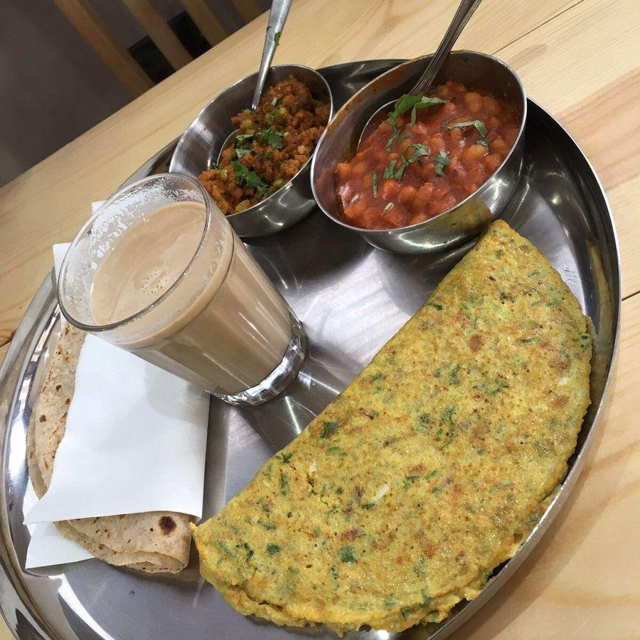 Desi nashta with chai at Masala Chai Nashta in Forest Gate, E7