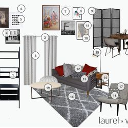 One of the First Look style boards that my designer created. I dig that L&W makes it convenient to communicate with the designer by commenting directly onto the board.